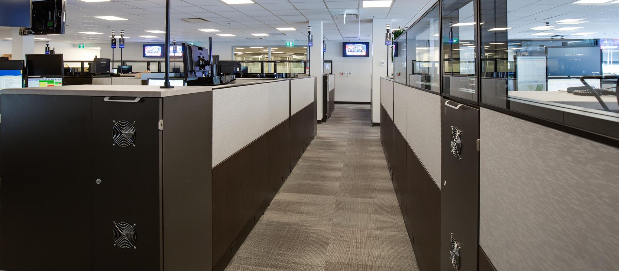 Panel Tiles in a Comm Center - Xybix
