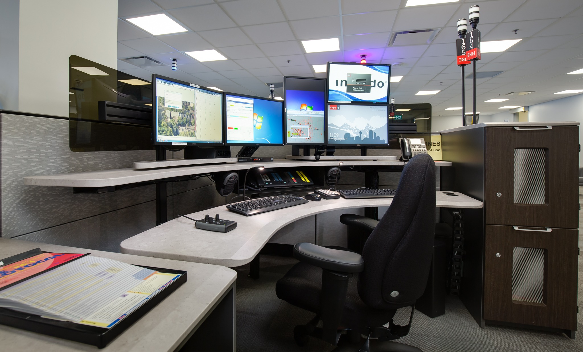 Xybix Dispatch Consoles, Command & Control Furniture, Healthcare Imaging Desks