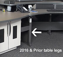 Xybix Table legs Prior to 2016