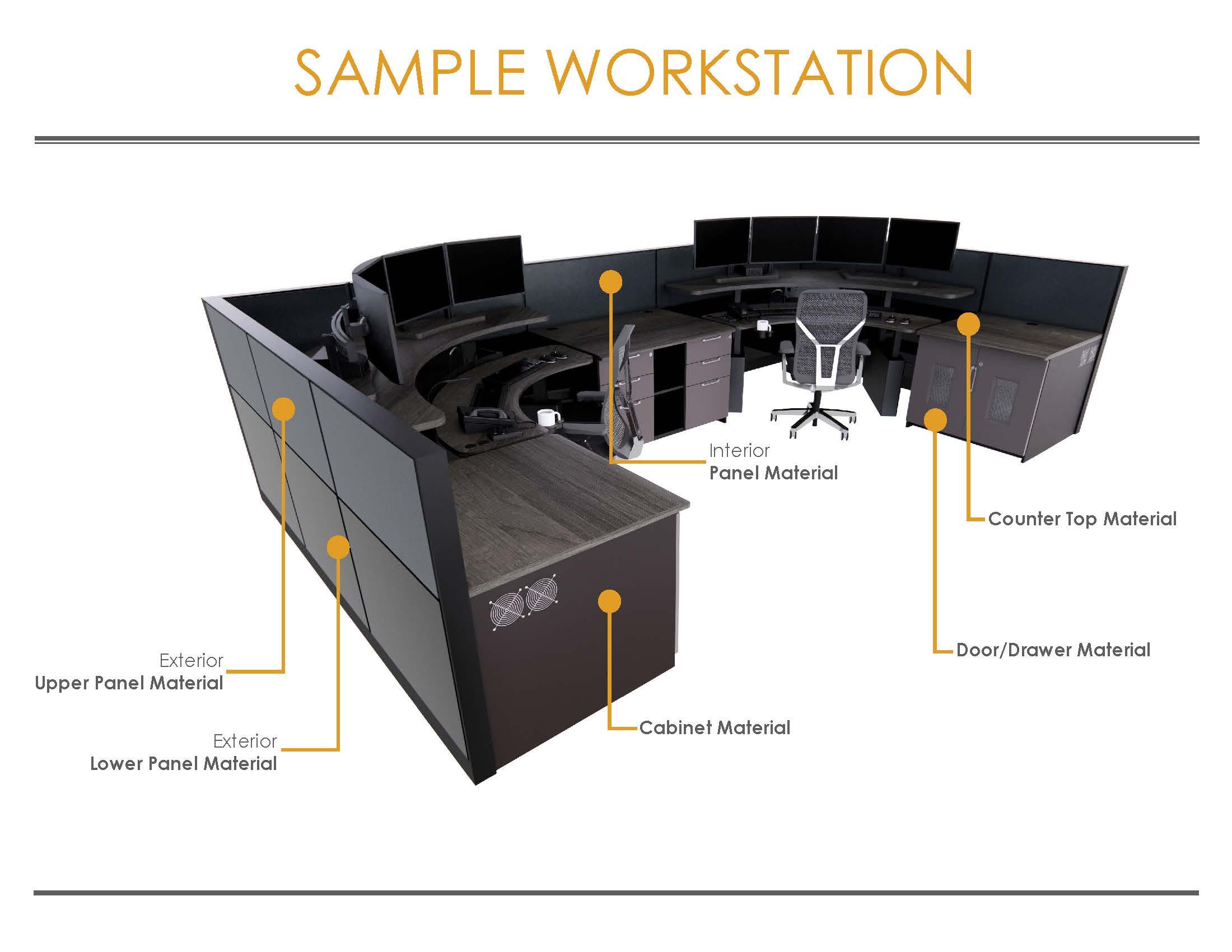 2021 Eagle Line Finish Brochure with Carpeting Sample Workstation