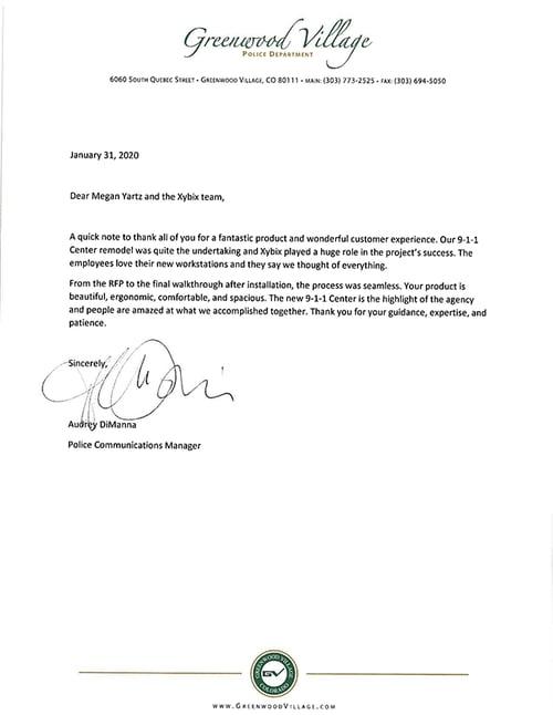 GVPD Xybix Letter