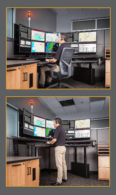 police dispatch consoles furniture workstations xybix  xybix