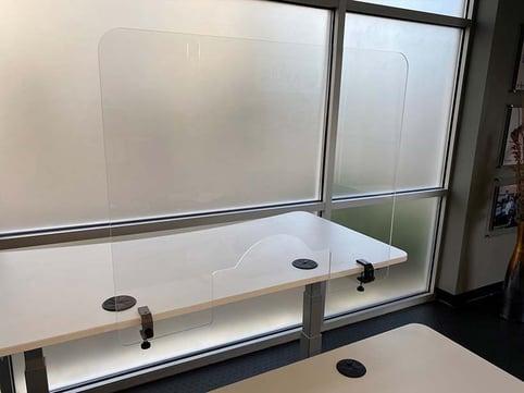 PlexiGuard Clamp-On Desk Divider Shield