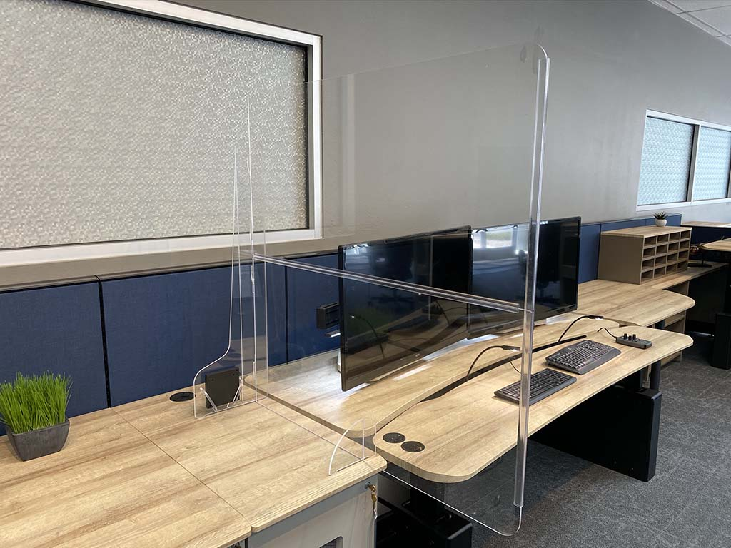 PlexiGuard Desktop Divider Shield