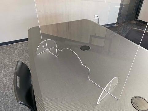 PlexiGuard Free-Standing Desk Divider Shield
