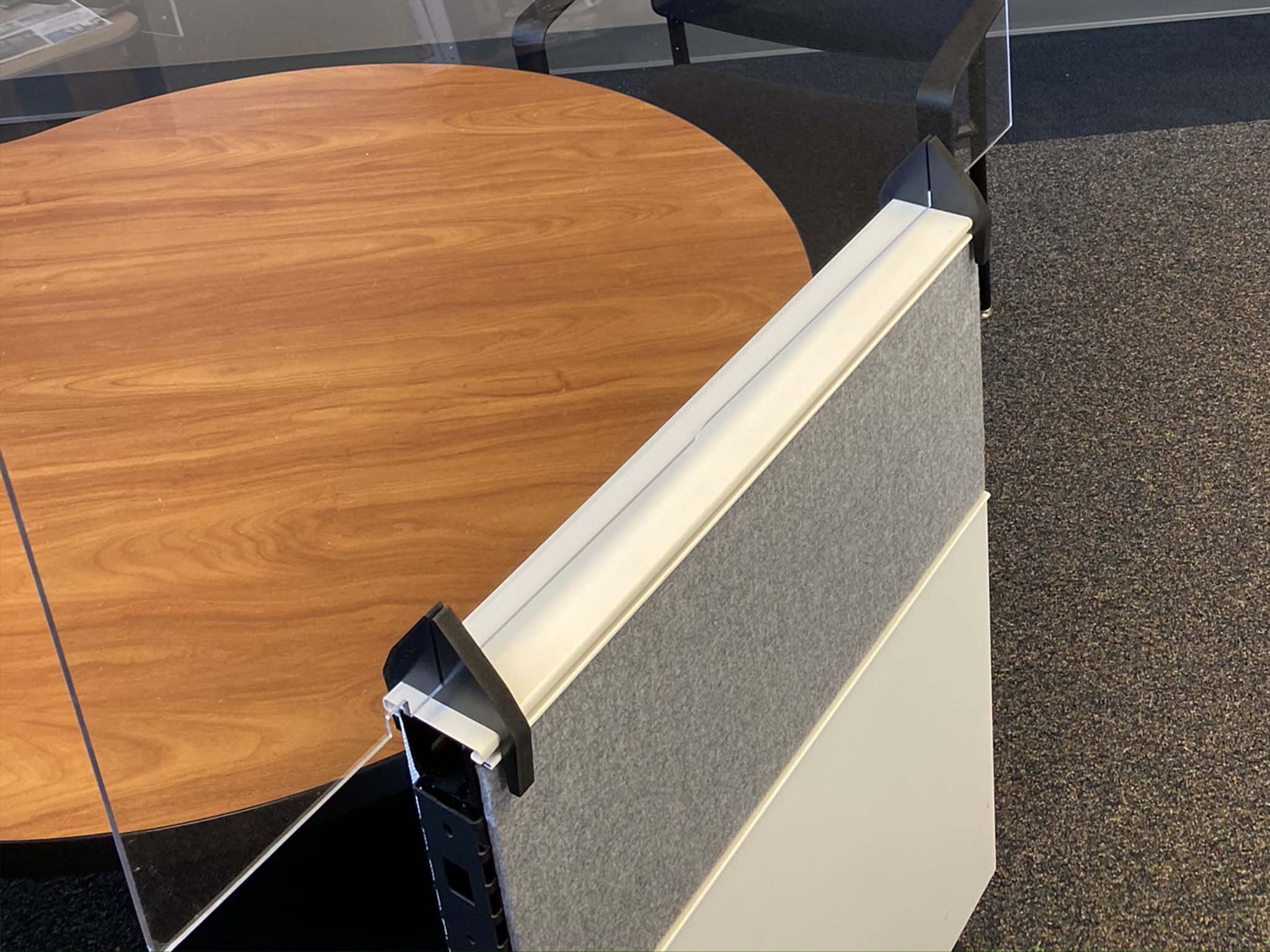 PlexiGuard Panel Top Desk Divider Shield