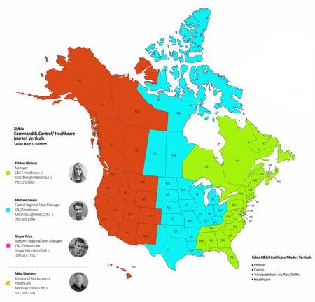 2021 Sales Map CC Healthcare Market Vertical