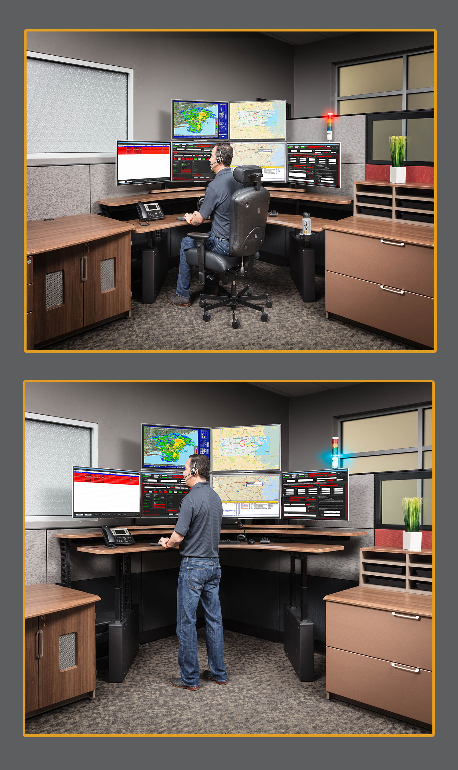 Sit to Stand Dispatch Consoles