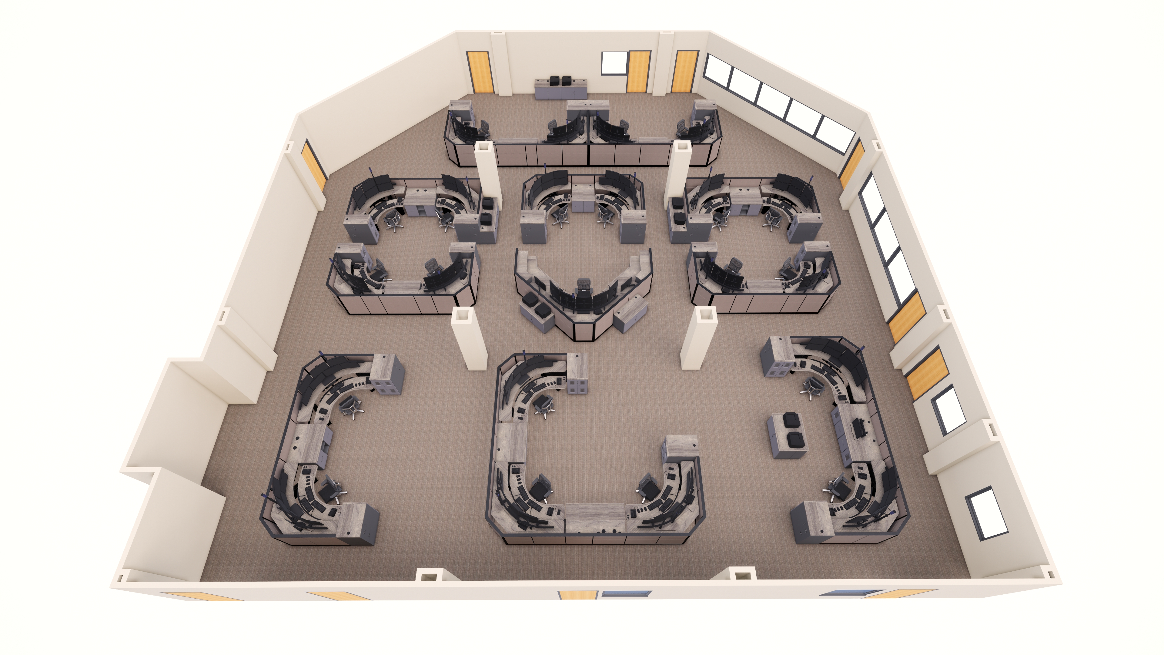 Chester County 911 Room Rendering Space Planning Design