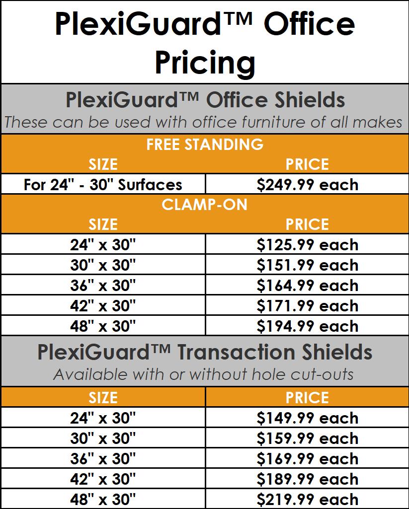 PlexiGuardOffice_Pricing