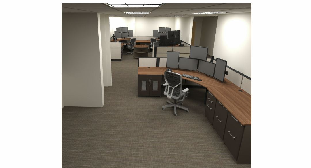 Temple Terrace Police Rendering Dispatch Furniture