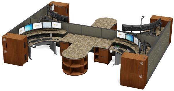 911 Dispatch Workstations   Consoles   Ergonomic Desks   Xybix
