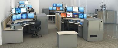 Dispatch Console 911 Furniture Layout